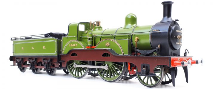 North Eastern Railway Tennant 2-4-0 no. 1467 in scaleseven