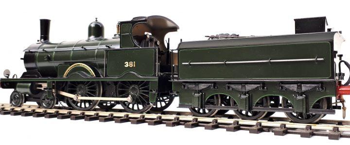 LSWR Adams 380 class 4-4-0 no. 381